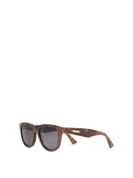 Rounded Sunglasses Bronze