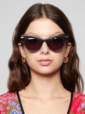 cat eye sunglasses transparent grey
