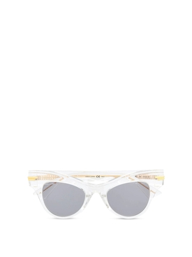 Angled sunglasses transparent and gold