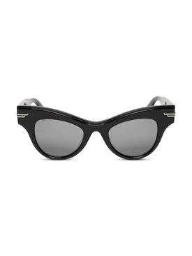 Cat-eye acetate sunglasses black