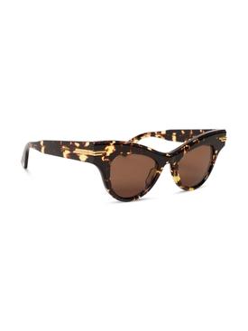 Cat-eye acetate sunglasses Havana brown