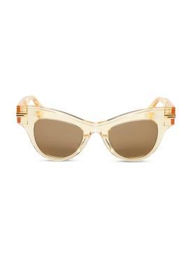 Cat-eye acetate sunglasses yellow