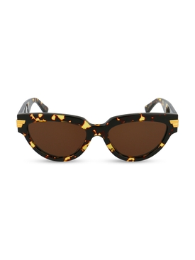 Cat-eye sunglasses, brown