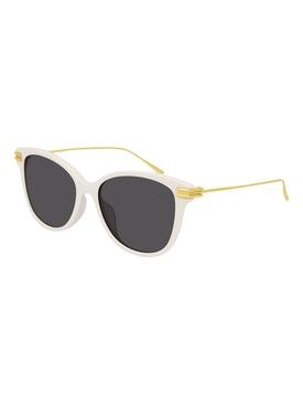 Cat Eye Gold-Tone Sunglasses WHITE