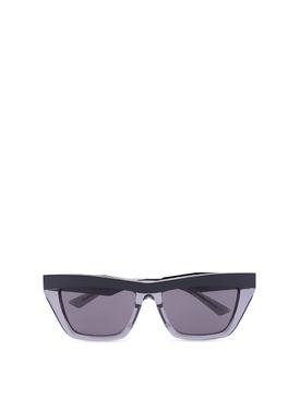 Transparent angled sunglasses grey