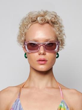 Square acetate sunglasses purple