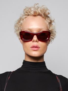 Square acetate sunglasses red