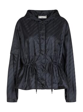 Black Logo Windbreaker Jacket