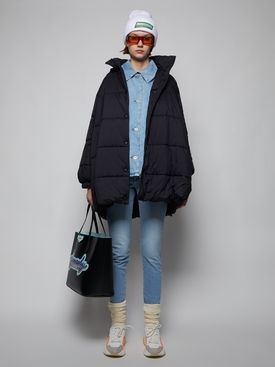 A-line Puffer Jacket, Black