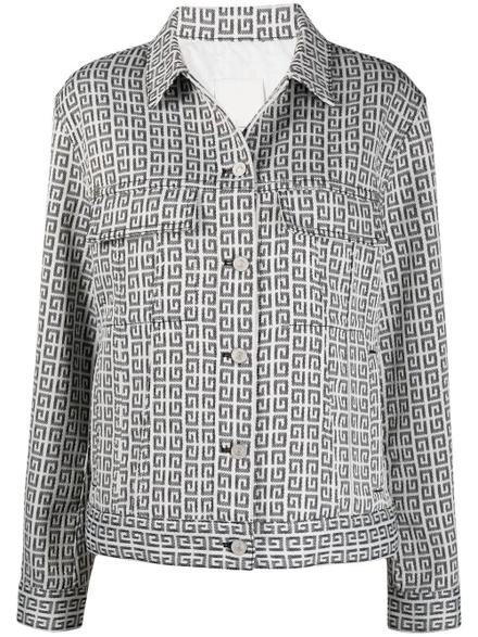 Givenchy Denims Jacquard Logo Motif Denim Jacket