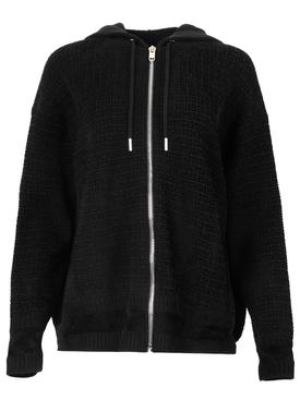 4G Knitted Zipped Hoodie Black