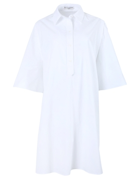 White boxy cotton dress