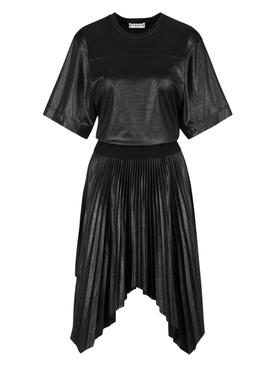Pleated Varnished Dress