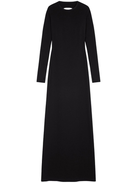 Maxi open back dress, black