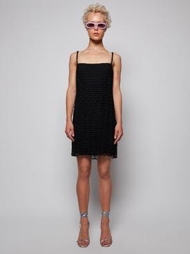 4G Guipure Lace Mini Dress Black