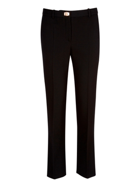 Black Wool Tailored Pants