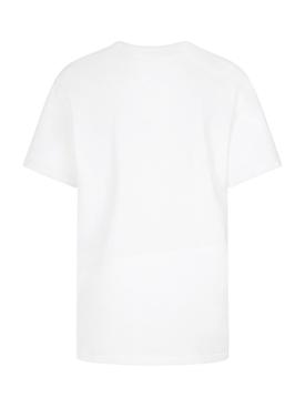 White Logo Crewneck T-shirt