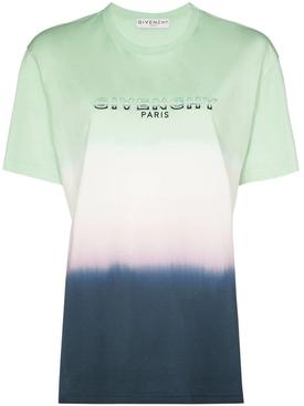 Tricolor Tie-Dye Logo T-shirt BLUE/GREEN