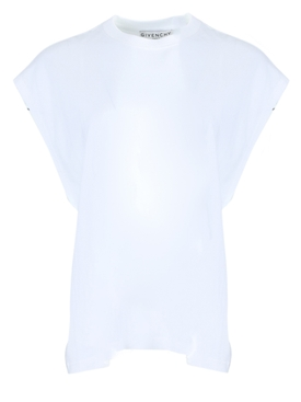 Givenchy - White Flutter Sleeve T-shirt - Women