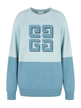 Blue Bicolor 4G Sweater