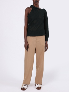 Perforated One-Shoulder Top