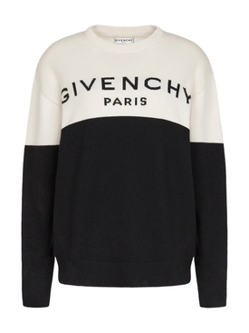 Cashmere Logo Sweater BLACK/WHITE