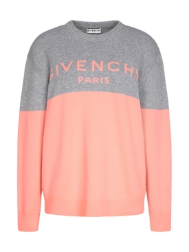 Cashmere Logo Sweater PINK/GREY