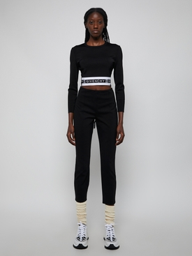 Cropped Logo Band Sweatshirt