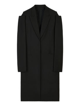 LONG OVERSIZED WOOL AND MOHAIR COAT