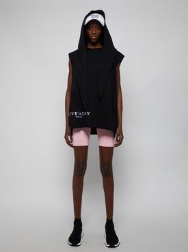 Sleeveless Bandana Hoodie, Black