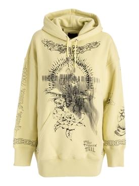 Oversize sweatshirt hoodie lemonade yellow