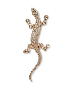 18K Gold Baby Lizard Single Earring