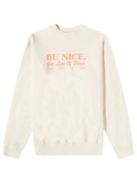 Be Nice Crewneck Sweatshirt Milk