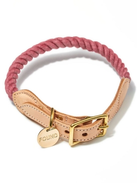 Found My Animal - Up-cycled Cat And Dog Collar Pink - Home