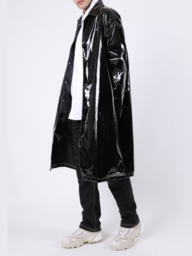 Black Long Patent Rain Jacket