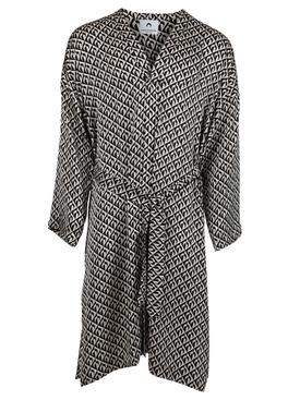 Belted Moon Lozenge Robe