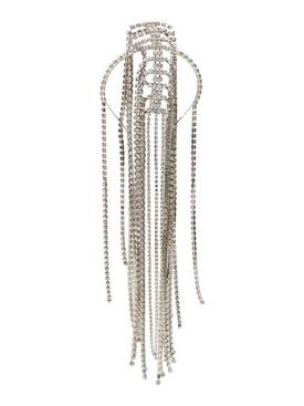 Silver-tone crystal head piece