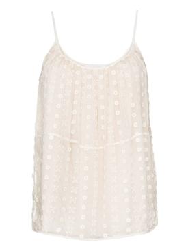Bohemian silk lace cami