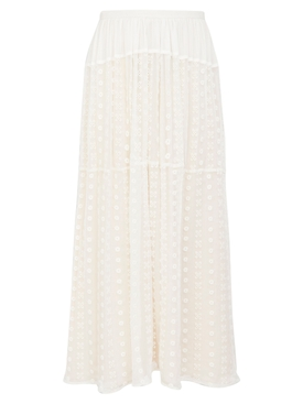 Bohemian silk maxi skirt