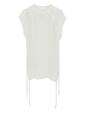 Eden white sleeveless knit top