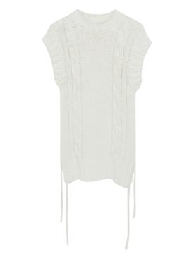 Eden white sleeveless knit top