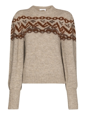 Puff-sleeve jumper