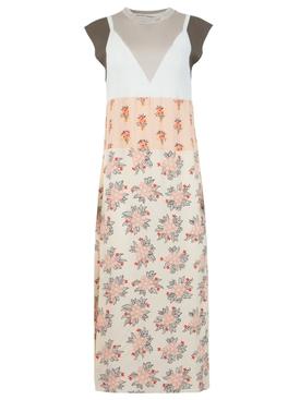 Floral multi-print midi dress