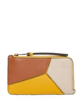 Puzzle coin leather cardholder