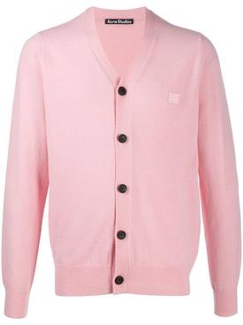 Face Cardigan Blush Pink