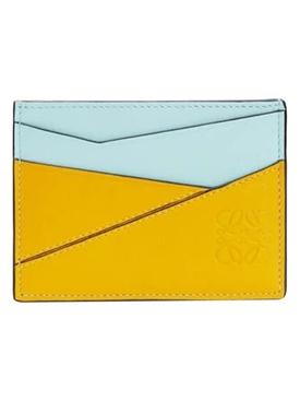 Puzzle Cardholder Yellow Mango