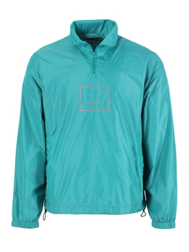 Oversize Half-zip Face Jacket Jade green