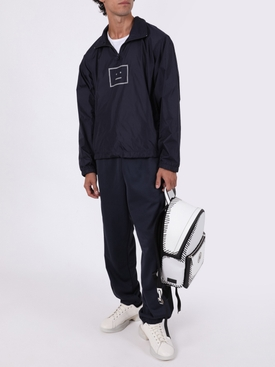 Oversize Half-zip Face Jacket Navy