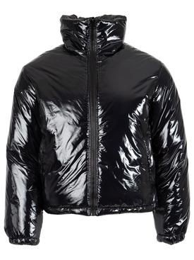 Shiny Puffer Jacket Black