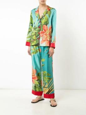 Tropical Print Pajama Blouse